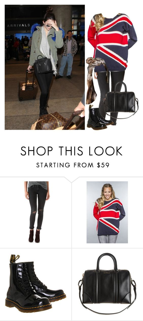 """B-going to london with kendall"" by onedirectionnhllz ❤ liked on Polyvore featuring rag & bone/JEAN, Dr. Martens and Givenchy"