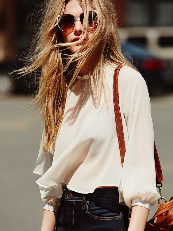 Free People Sheer Swing Crop at Free People Clothing Boutique