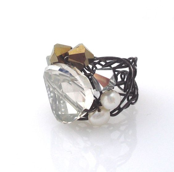 Desideri design cocktail ring $215.00: Cocktail Rings, Design Deco