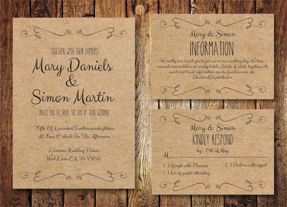 18 Simple Inexpensive Wedding Invitations Inexpensive Wedding Invitations Casual Wedding Invitations Simple Wedding Invitations