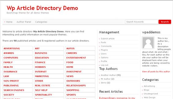 Original Wp Article Directory Theme