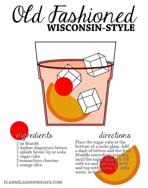 Brandy old fashioned old fashioned recipes and wisconsin on pinterest