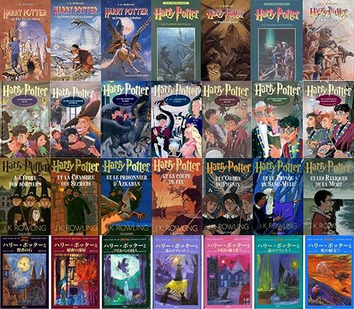 Harry Potter Book Cover Country ~ Harry potter book covers from around the world all