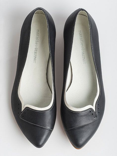 SALE 35% OFF Ninna black flats. $115.00, via Etsy.