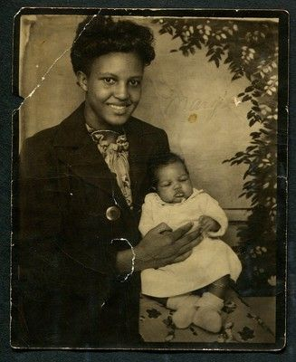 +~ Vintage Photo Booth Picture ~+  Wonderful capture of an African American mother and her child.