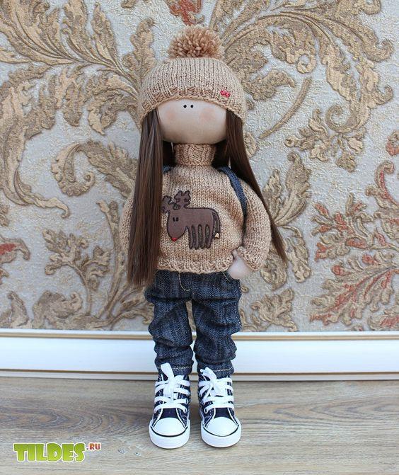 Кукла большеножка Эни. Интерьерные куклы. Купить авторские куклы и игрушки. Куклы на заказ. Краснодар.:
