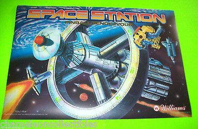 SPACE-STATION-By-WILLIAMS-1987-ORIGINAL-NOS-PINBALL-MACHINE-TRANSLITE-BACKGLASS  #pinballart #spaceage #pinball