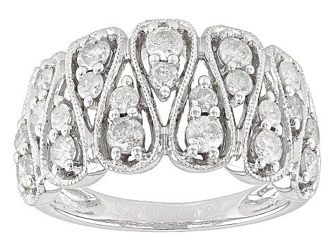 Diamond 10k White Gold Ring 1 00ctw Docn082 In 2020 White Gold Rings Gold Rings Rings