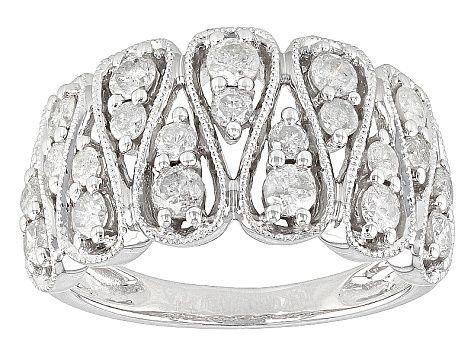 Diamond 10k White Gold Ring 1 00ctw Docn082 In 2020 White Gold Rings Gold Rings White Gold
