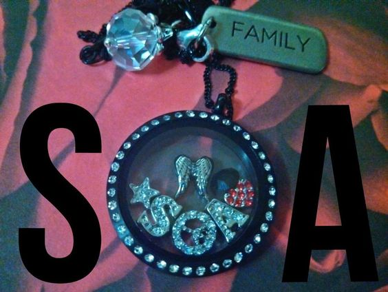 Sons of Anarchy inspired locket from Origami Owl! Make yours at http://tracyfazz.origamiowl.com