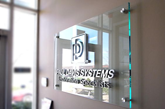 Brushed metal substitute acrylic sign with spacers on the | ArtSigns®