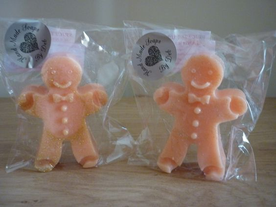 PASSION FRUIT - GINGERBREAD MEN HANDMADE SOAPS. £2.50