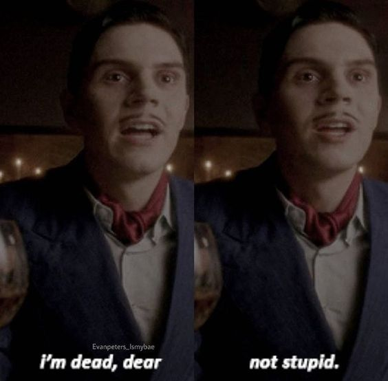 American Horror Story: Hotel- Evan Peters as Mr. March