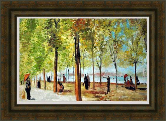 """""""Lane no Jardim de Luxemburgo"""" de Monet, emoldurada"""