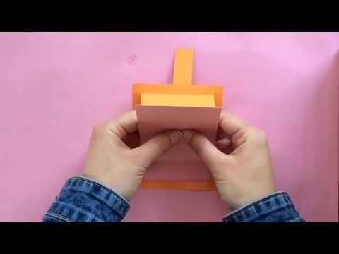 كيف تسوي مطوية تنسحب بأقل من دقيقتين Youtube Scrapbook Youtube Cute