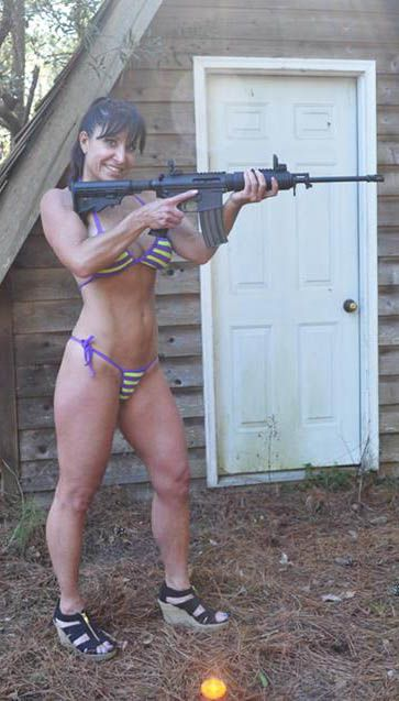 guns and sexy babe