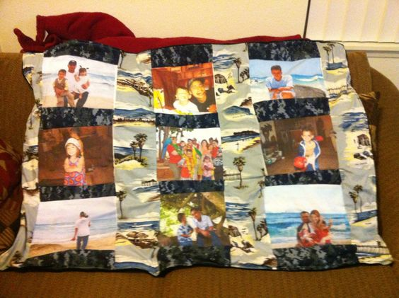 Picture throw quilt.