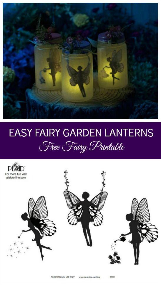 Mason jar decoupage the free printable fairy silhouette into the jar