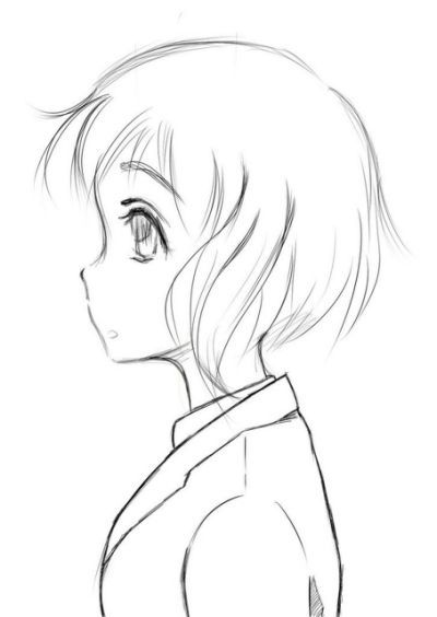 Side Profile How To Draw Girls Anime Drawings Sketches Anime Side View How To Draw Hair