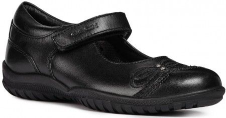 Geox Shadow J84A6C Black School Shoes