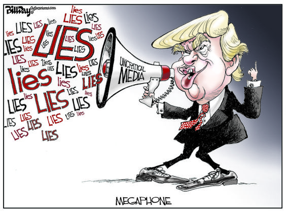 Image result for Trump Lies cartoon