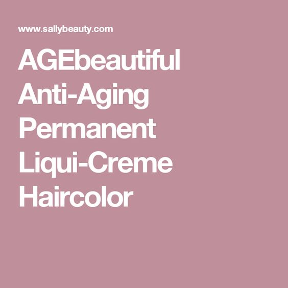 AGEbeautiful Anti-Aging Permanent Liqui-Creme Haircolor