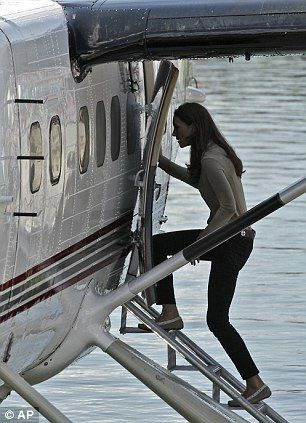 Kate Middleton boarding a float plane: