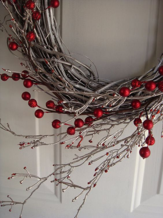 Christmas wreath holiday wreath front door by designsdivinebyjb