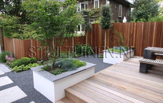 Moderne stadstuin bij jaren 30 woning in Rotterdam tuinontwerp- tuinarchitectenTuinontwerp-tuinarchitecten STIJLTUINEN   Exclusieve, luxe en moderne tuinen