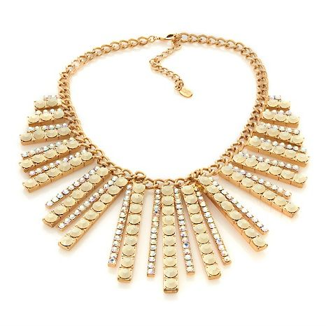 Starlet Jewelry by Hot in Hollywood® Peyton Necklace; rhinestone chain