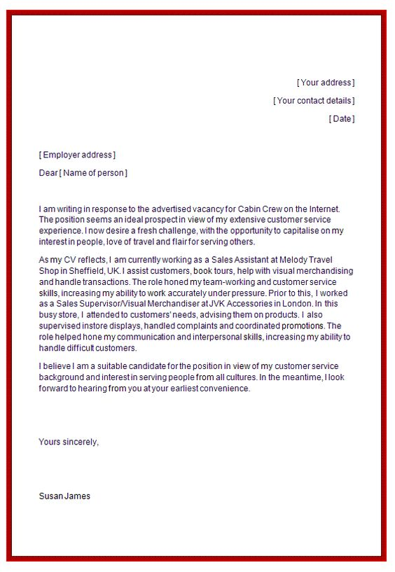 cover letter for flight attendant resume template Pinterest - flight attendant cover letter