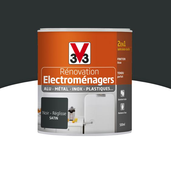 Peinture renovation electrom nager r glisse 0 5l v33 for Peinture pour cuisine castorama