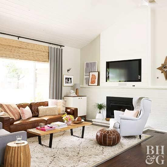 17 Stunning Ways To Decorate With A Brown Sofa Brown Leather Sofa Living Room Leather Sofa Living Room Brown Couch Living Room