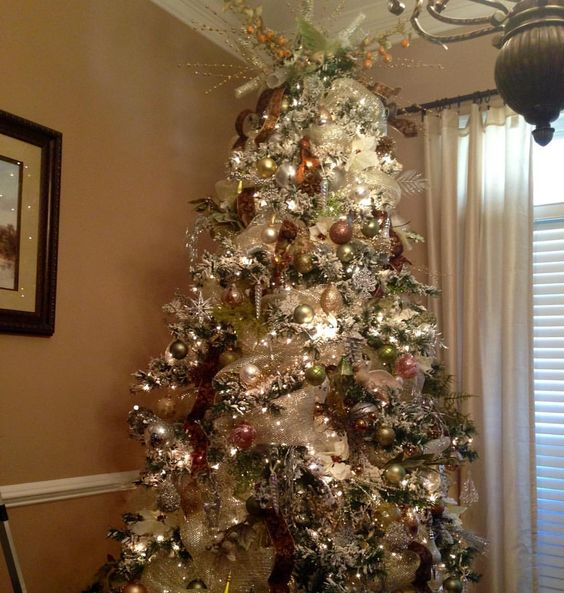 #christmastree #christmastreedecorating  my dining room tree #crazyaboutChristmas