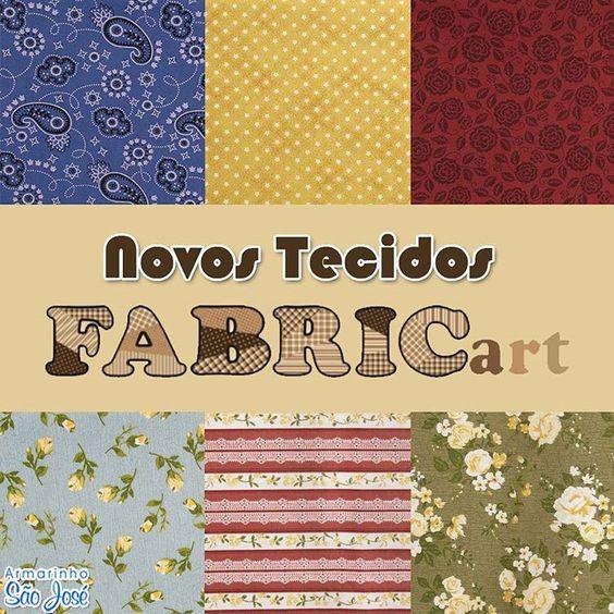 Chegou a nova coleção de tecidos Fabricart!  Encontre no www.armarinhosaojose.com.br #artesanato #presentes #artemanual #patchwork #tecidos #costura #trabalhomanual #criatividade #handmade #feitoamao #saojosearmarinho