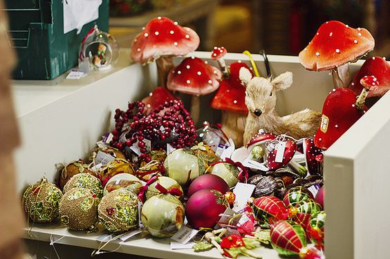 collect baubles and decorations for your tree mushrooms and deer by Shiny Thoughts, via Flickr