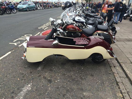Crazy scooter ace cafe reunion Brighton 2016