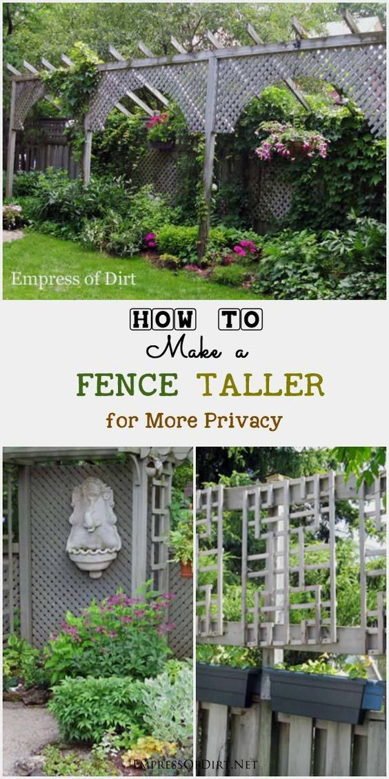 How to make a fence taller fence look at and ideas for Short fence ideas