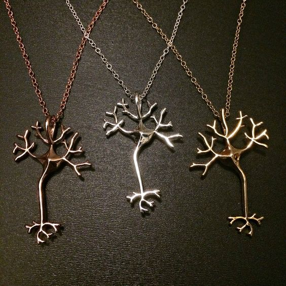 Science Jewelry Neuron Brain Nerve Necklace Geek Jewelry Nerd Anatomy Jewelry Science Art Gift for Doctor Neurologist Nurse EMT: