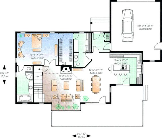 Monster house  Plan plan and Contemporary style on PinterestContemporary Style House Plans   Square Foot Home   Story  Bedroom and