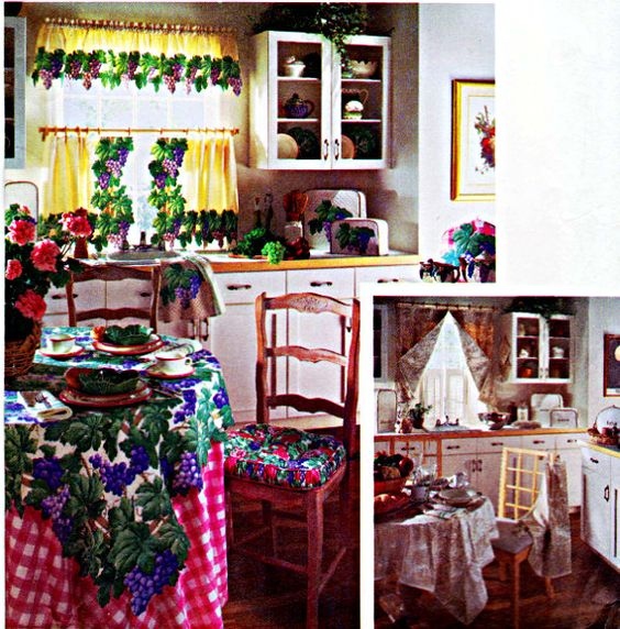 Custom Kitchen Accessories: Café Curtain, Valance, Tea Cozy, Chair Pad, Tablecloths, Ironing Board Cover, Simplicity Sewing Pattern 8106 by TheGrannySquared on Etsy