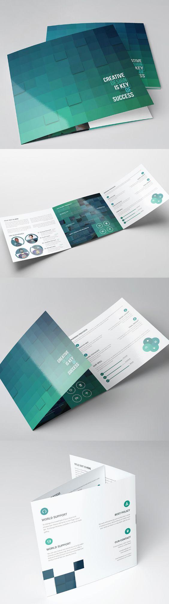 Square Tri-fold Brochure Template | friday brochure | Pinterest ...
