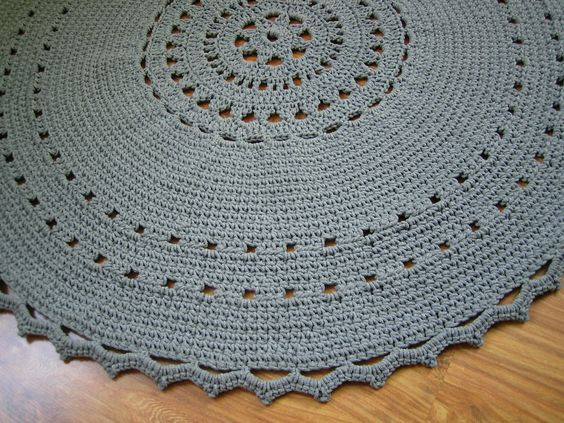 Round crochet doily rug /  Crochet carpet / Doily rug by Stefkowo, zł180.00