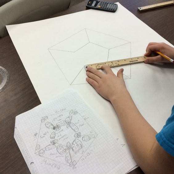 FREE Blueprint Project lesson plan for 6th grade math! Students - free printable grid paper for math