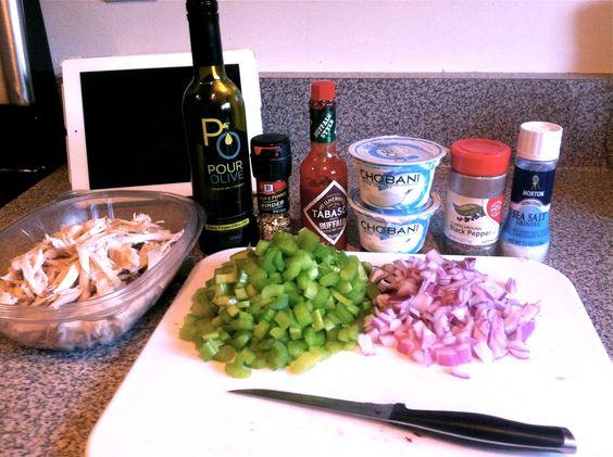 Healthy Buffalo Chicken Pasta Salad with Chobani