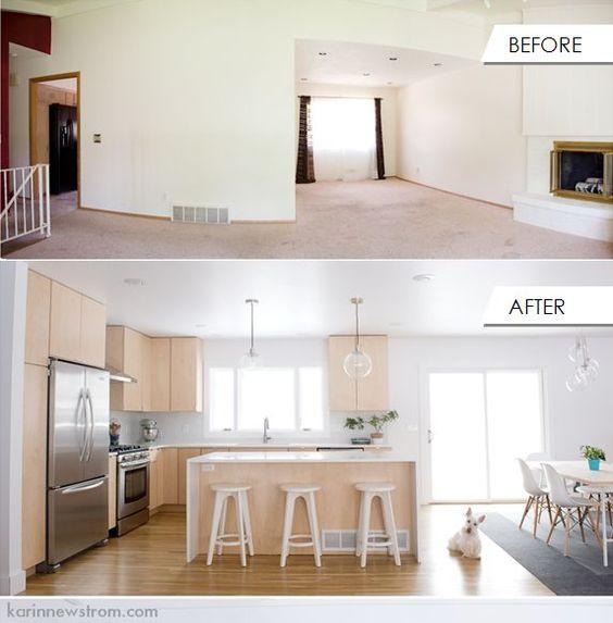 Split Level Open Floor Plan Kitchen
