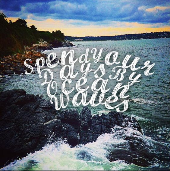 Spend Your Days By The Ocean Waves #BlueOceanLife #Waves #Newport #RhodeIsland #BeachLife