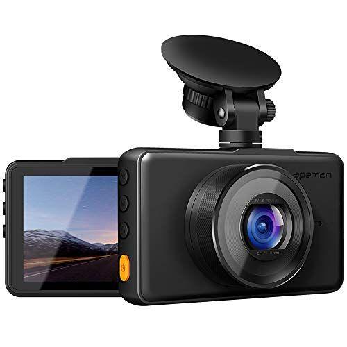 Apeman Dash Cam 1080p Fhd Dvr Car Driving Recorder 3 Lcd Screen