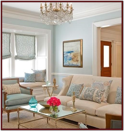 Cream And Duck Egg Blue Living Room Ideas Desain Interior Cat Ruang Tamu Ruang Tamu Rumah