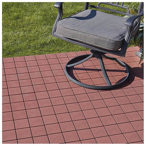 Interlocking Patio Pavers 12 Piece Set Paver Patio Diy Patio Pavers Outdoor Patio Designs